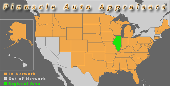 map illinios pinnacle auto appraisal appraiser diminished value inspection